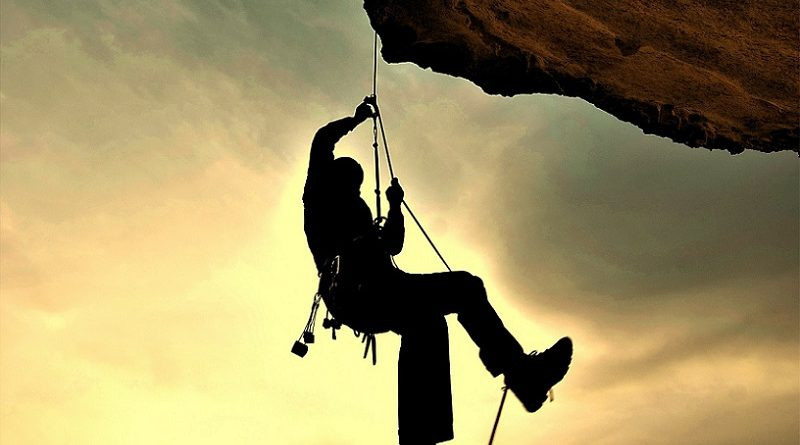 What are climbing ropes made of?