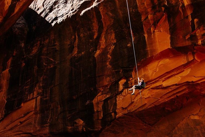 Safe Rock climbing rope