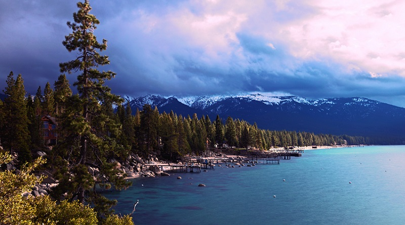 Lake Tahoe with Mountains