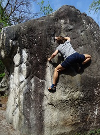Fontainebleau bouldering grade system